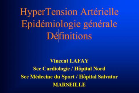HTA ET AFRIQUE : HYPERTENSION ARTERIELLE - EPIDIOMOLOGIE..